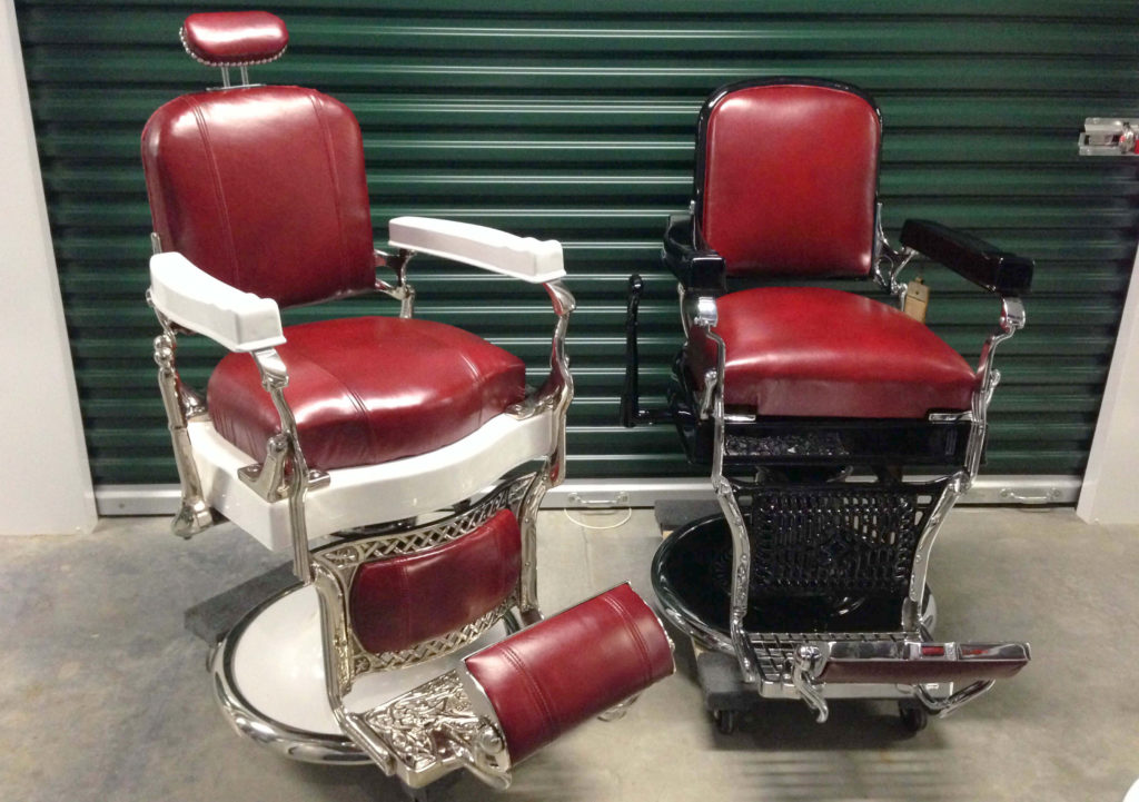 """You can still find classic, durable, and fully reclining backrest Koken Barber  Chairs, such as the """"Legacy"""", on websites like Amazon or Ebay. - Antique Barber's Chairs – Styles, Brands And Repro's - Furnish & Style"""