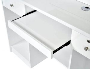slide out drawer in modern salon desk