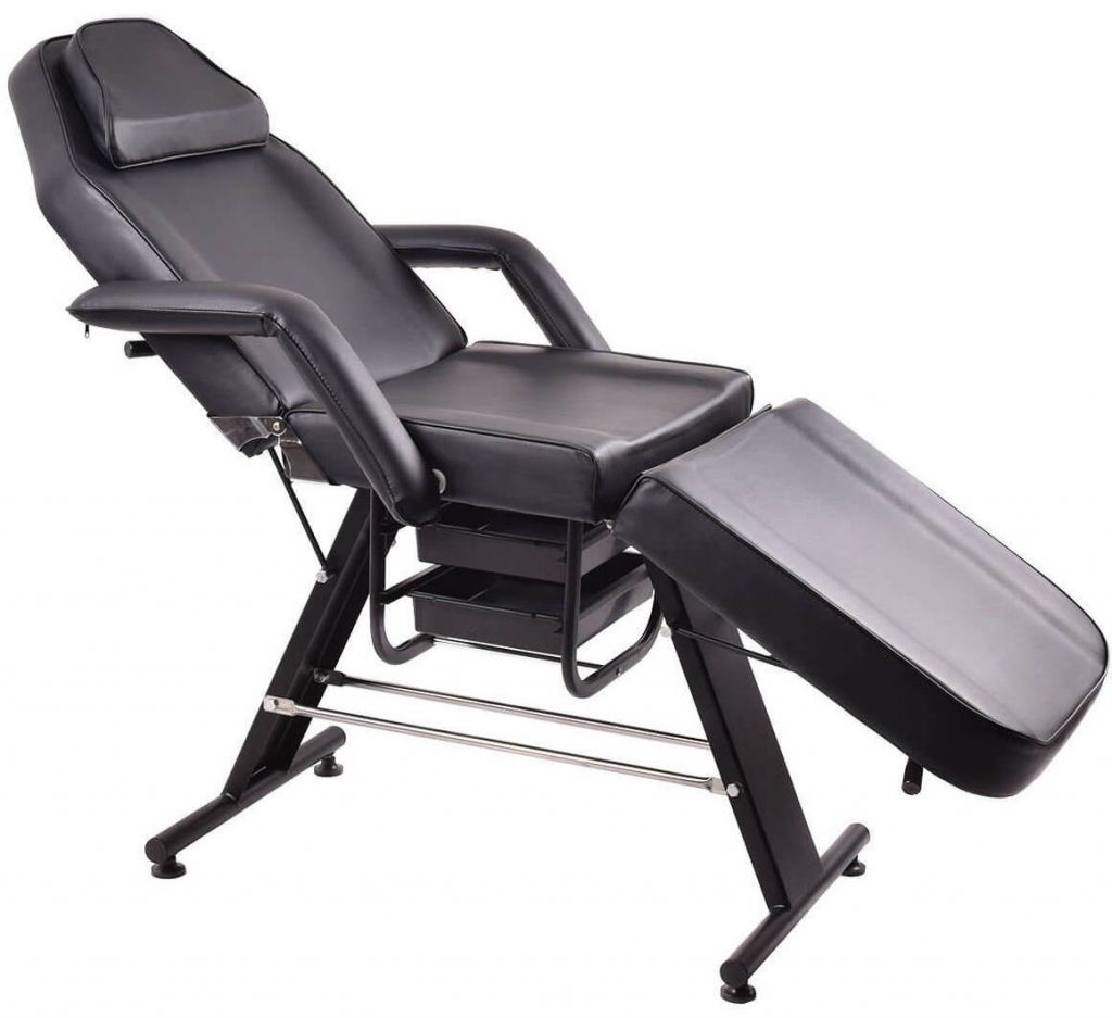 Giantex Adjustable Reclining Black Beauty Eyelash Chair